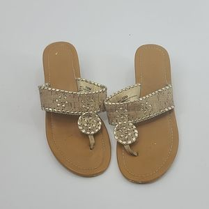 Cato gold wedge sandal. Womens size 10